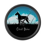 Nightsky Great Dane Large Wall Clock
