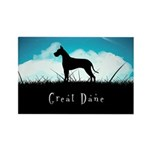 Nightsky Great Dane Rectangle Magnet (100 pack)