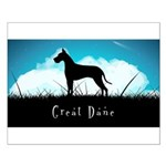 Nightsky Great Dane Small Poster