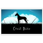 Nightsky Great Dane Large Poster