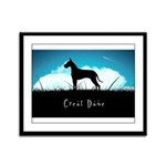 Nightsky Great Dane Framed Panel Print