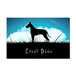 Nightsky Great Dane Mini Poster Print