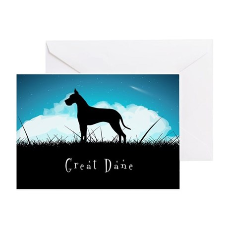 Nightsky Great Dane Greeting Card