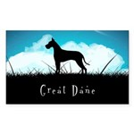 Nightsky Great Dane Sticker (Rectangle)