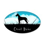 Nightsky Great Dane 22x14 Oval Wall Peel