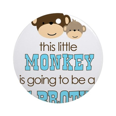 Big Brother Monkey Ornament (Round)