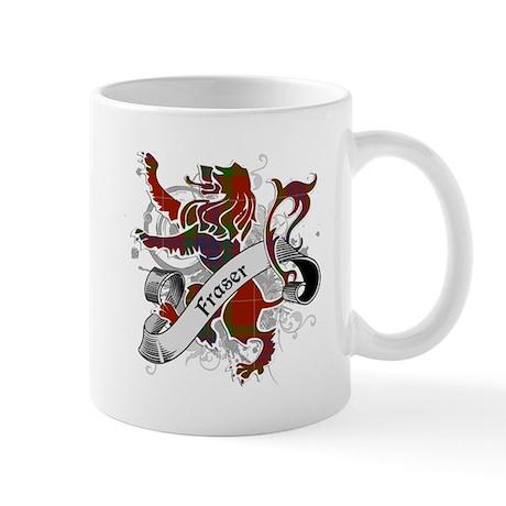 Fraser Tartan Lion Mug