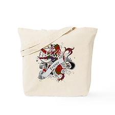 Fraser Tartan Lion Tote Bag