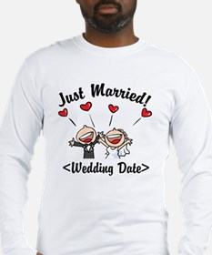 Just Married (Add Your Wedding Date) Long Sleeve T