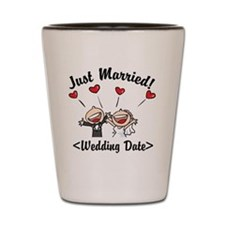 Just Married (Add Your Wedding Date) Shot Glass