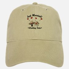 Just Married (Add Your Wedding Date) Baseball Baseball Cap