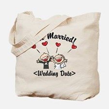 Just Married (Add Your Wedding Date) Tote Bag