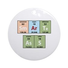 Chemistry Smart Ass Ornament (Round)