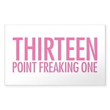 Simple Thirteen Point Freakin Decal