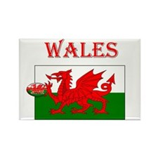 Wales Rugby Rectangle Magnet (10 pack)