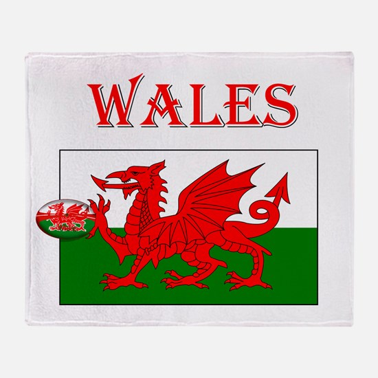 Wales Rugby Throw Blanket