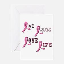 Breast Cancer Awareness Ribbo Greeting Card