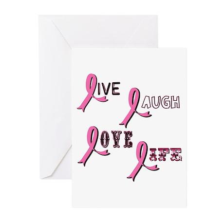 Breast Cancer Awareness Ribbo Greeting Cards (Pk o
