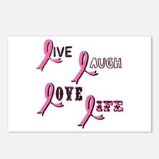 Breast Cancer Awareness Ribbo Postcards (Package o