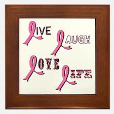 Breast Cancer Awareness Ribbo Framed Tile