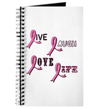 Breast Cancer Awareness Ribbo Journal