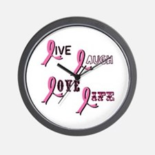 Breast Cancer Awareness Ribbo Wall Clock