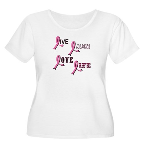 Breast Cancer Awareness Ribbo Women's Plus Size Sc