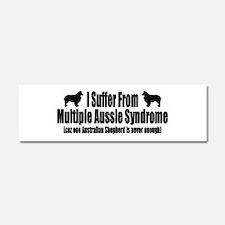 Australian Shepherd Dog Car Magnet 10 x 3