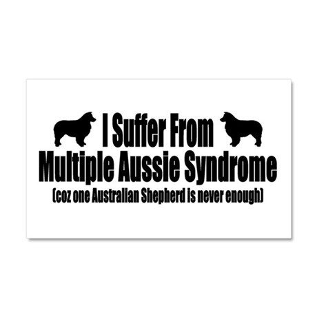 Australian Shepherd Dog Car Magnet 20 x 12