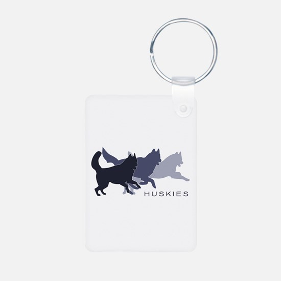 Running Huskies Keychains