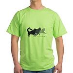 Running Huskies Green T-Shirt