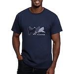 Running Huskies Men's Fitted T-Shirt (dark)