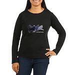 Running Huskies Women's Long Sleeve Dark T-Shirt