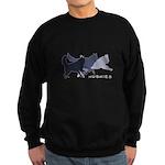 Running Huskies Sweatshirt (dark)