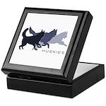 Running Huskies Keepsake Box