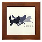 Running Huskies Framed Tile
