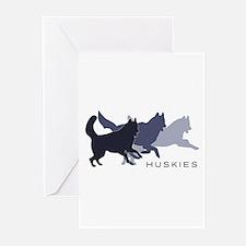 Running Huskies Greeting Cards (Pk of 10)