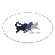 Running Huskies Decal