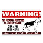 German Shepherd Warning Postcards (Package of 8)