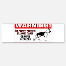 German Shepherd Warning Bumper Bumper Sticker