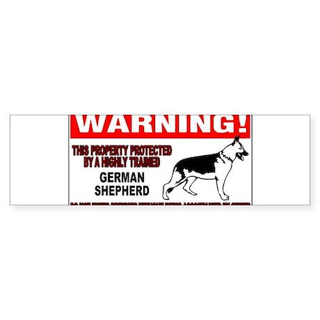 German Shepherd Warning Sticker (Bumper)