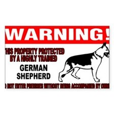 German Shepherd Warning Decal