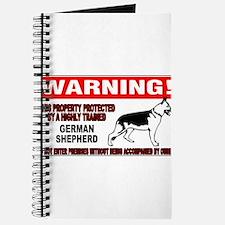 German Shepherd Warning Journal