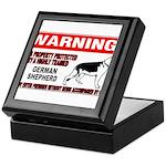 German Shepherd Warning Keepsake Box