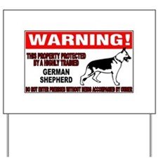 German Shepherd Warning Yard Sign