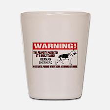 German Shepherd Warning Shot Glass