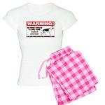 German Shepherd Warning Women's Light Pajamas