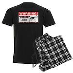 German Shepherd Warning Men's Dark Pajamas