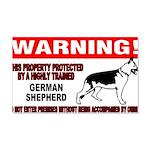 German Shepherd Warning 22x14 Wall Peel