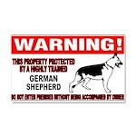 German Shepherd Warning Car Magnet 20 x 12